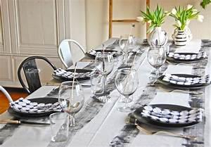 Tischdeko Schwarz Weiß Ideen : schwarz wei e tischdeko roomilicious ~ Bigdaddyawards.com Haus und Dekorationen