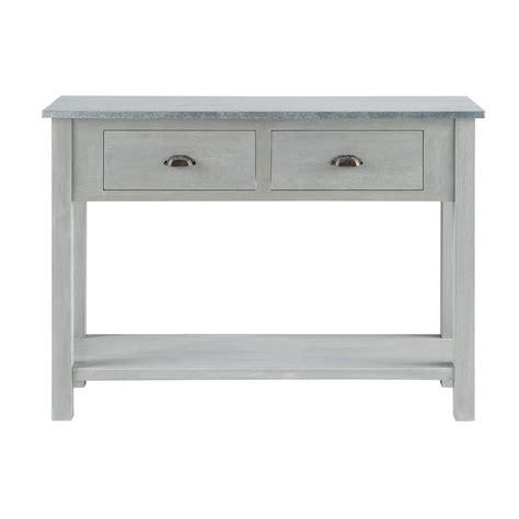 maison du monde console table console en bois blanche   cm  raphine maisons console ivoire
