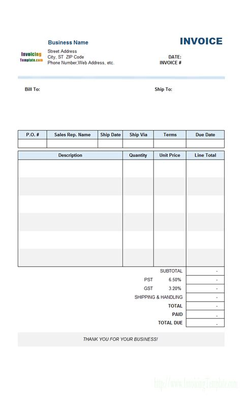 sample sales invoice template   number