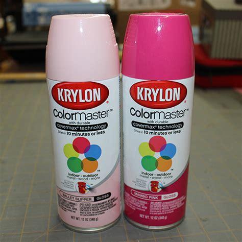 light pink spray paint krylon walnuthollowcrafts