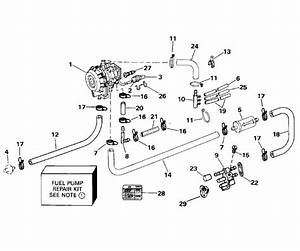 Fuel Pump Parts For 1994 40hp J40telere Outboard Motor