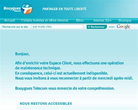 si鑒e de bouygues telecom espace client bouygues t 233 l 233 com indisponible bbox