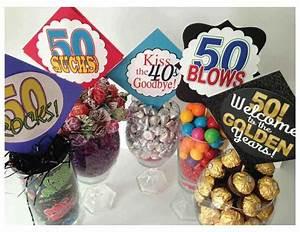 Very Clever Centerpiece Ideas For Milestone Birthdays Use