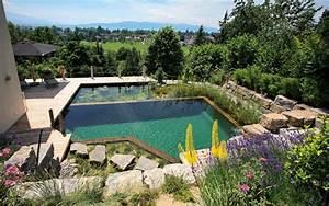 schwimmteich im garten so bauen sie ein biotop zum bahnen With französischer balkon mit luxus pool im garten