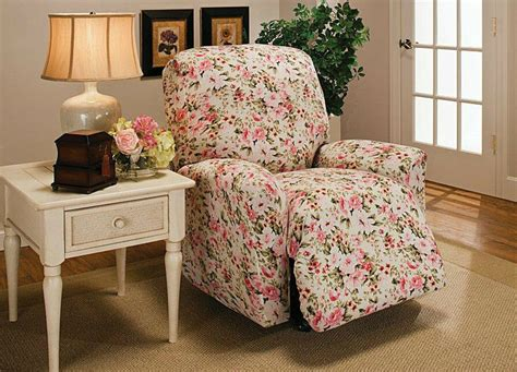 Slipcover For Recliner by Floral Jersey Recliner Stretch Slipcover Furniture