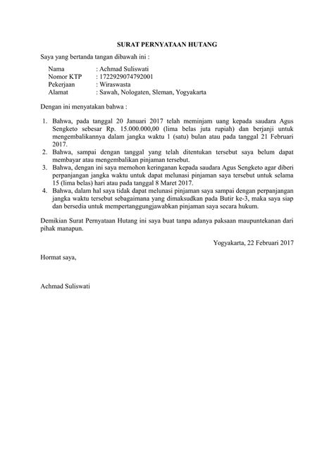 Cara Membuat Surat Pernyataan Kerja by Contoh Surat Pengunduran Diri Di Hotel Cara Ku Mu