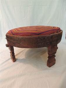 moroccan carved tribal wood ottoman table at 1stdibs With tribal coffee table