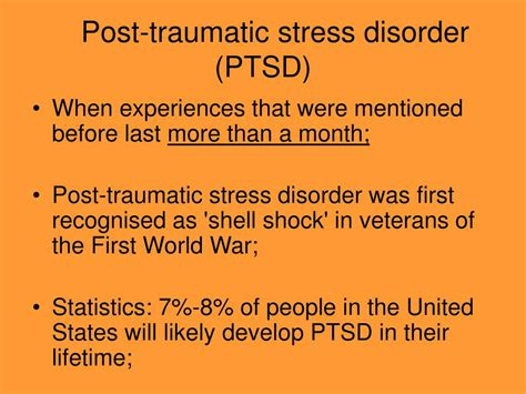 traumatic stress powerpoint