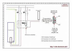 Cablage Chauffe Eau : schema branchement contacteur chauffe eau ~ Melissatoandfro.com Idées de Décoration