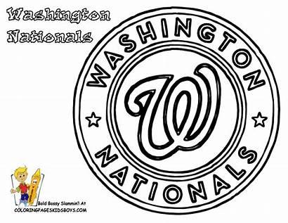Coloring Baseball Pages Mlb Nationals Washington Phillies