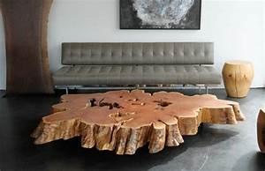 Tisch Aus Holzstamm : baumstamm tisch super originelle designs ~ Lateststills.com Haus und Dekorationen
