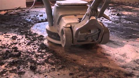 removing glue  mastic  underlayment long