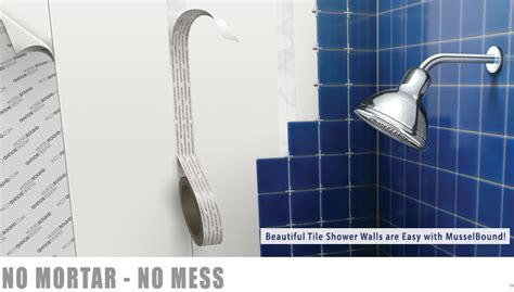 musselbound adhesive tile mat is ideal for kitchen backsplashes countertops and shower walls