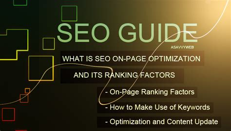 What Is Web Seo - what is seo on page optimization and its ranking factors