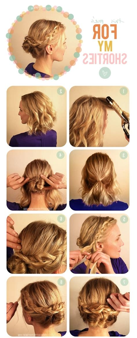 Easy Do It Yourself Updo Hairstyles by 15 Collection Of Easy Updo Hairstyles For Medium Hair To