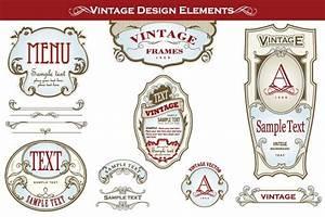 vintage bottle vector label designs got vectors With bottle label design online