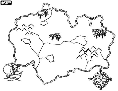 treasure map coloring pages getcoloringpagescom