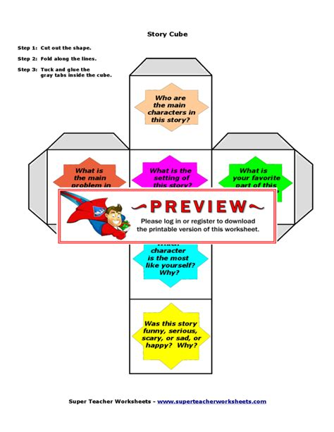 Story Cube Template story cube template free