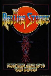 the rolling stones vintage concert poster from cow palace