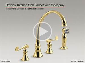 Revival U00ae Kitchen Sink Faucet With Sidespray
