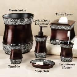Brown Bathroom Accessories Walmart by Elite Handpainted Bath Accessories Bathroom Accessories