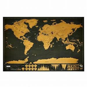 Carte Du Monde à Gratter Maison Du Monde : carte du monde gratter noire dor e nature d couvertes ~ Teatrodelosmanantiales.com Idées de Décoration