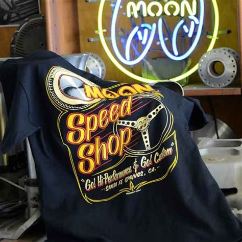 moon equipped speed shop  shirt