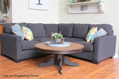 How about adding a diy farmhouse coffee table to your. DIY Round Farmhouse Coffee Table - Life on Kaydeross Creek