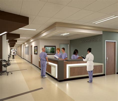 front desk receptionist in dallas tx parkland hospital by hdr architects