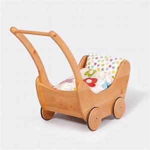 Puppenwagen Ab 1 Jahr : puppenwagen aus massivem erlenholz gewachst mit inlett von gl cksk fer echtkind ~ Eleganceandgraceweddings.com Haus und Dekorationen