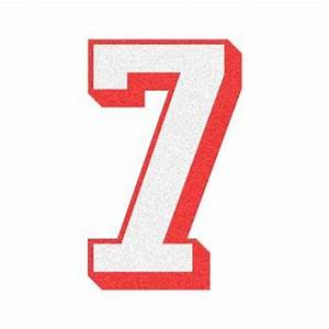 2 Color 3D Number Quot7quot Reflective Decal The Bravest Decals