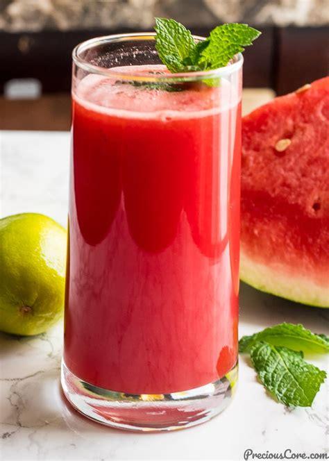 watermelon juice mint healthy precious eat watermelons cubes into recipe core put around them preciouscore cutting then
