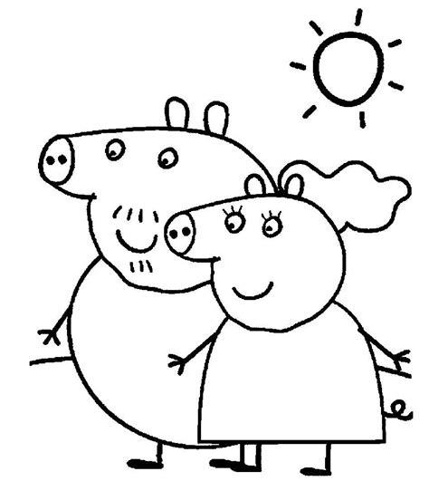 disegno da stare peppa pig peppa pig da stare e colorare foto nanopress donna