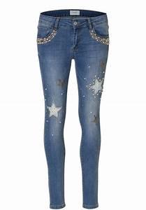 Jeans Mit Schmuckperlen : cartoon jeans mit sternen und perlen online kaufen otto ~ Frokenaadalensverden.com Haus und Dekorationen