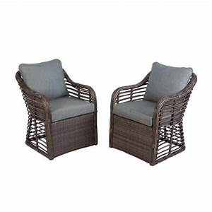 hampton bay cane crossing all weather wicker patio chat With home depot hampton bay wicker furniture