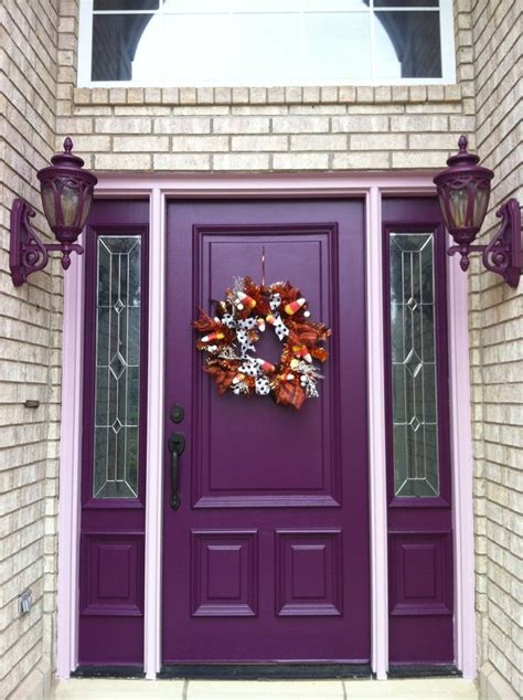 purple front door nothing says quot welcome quot like a lovely