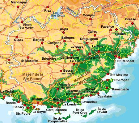 Carte Du Var Avec Toutes Les Villes by Carte Interactive Du Var Provence Web