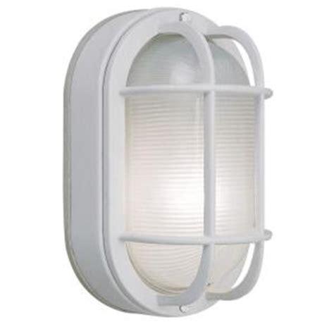 hton bay wall mount outdoor white oval bulkhead light
