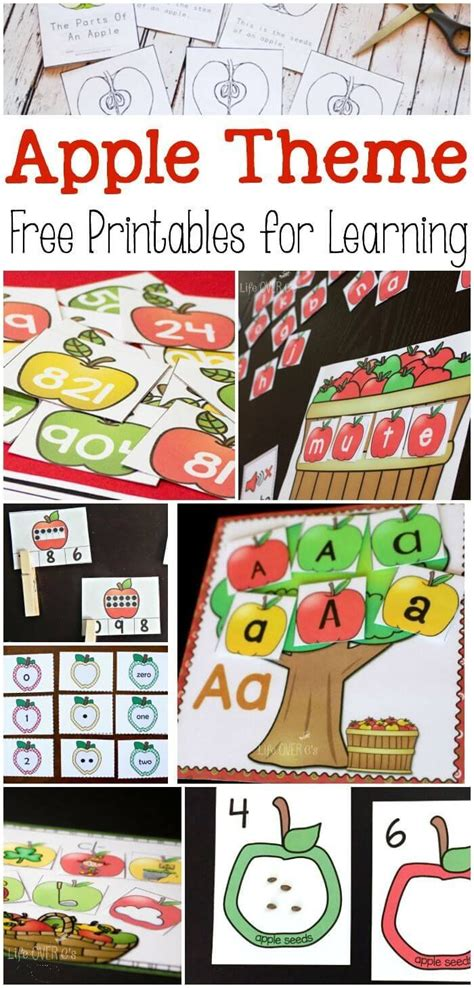 free apple printables for learning apple theme themes 261 | 2f0162ec46d3861180770d45f663f277