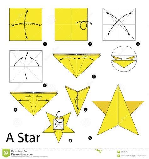 Comment Faire Des Origamis 233 Par 233 Comment Faire 224 Origami Une 233 Toile Illustration De Vecteur Image