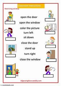 Classroom Instructions  Classroom Language Worksheet