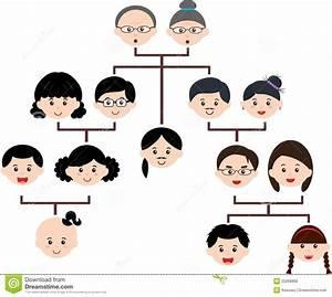 Brown Face Chart Blank Vector Icons Family Tree Family Tree Diagram Family