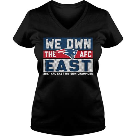 new england patriots we own the afc east shirt hoodie and