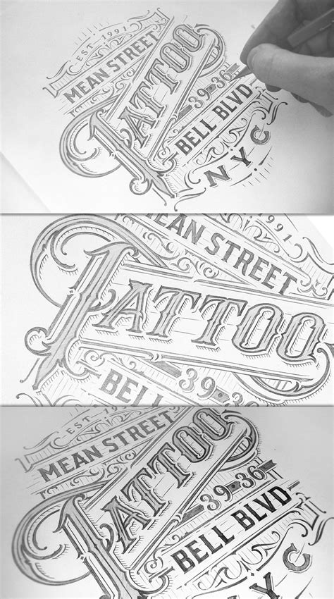 Tattoo Parlours on Behance   Typography drawing, Tattoo parlors, Painted signs