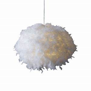 Lustre En Plume : suspension blanche kokot e27 15w castorama ~ Teatrodelosmanantiales.com Idées de Décoration