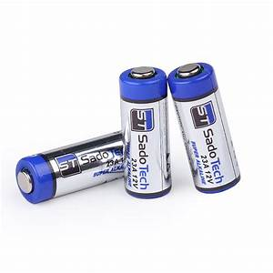 Official A23 Battery Replacement For Sadotech Doorbells And Accessories  Long Lasting 3 Pack