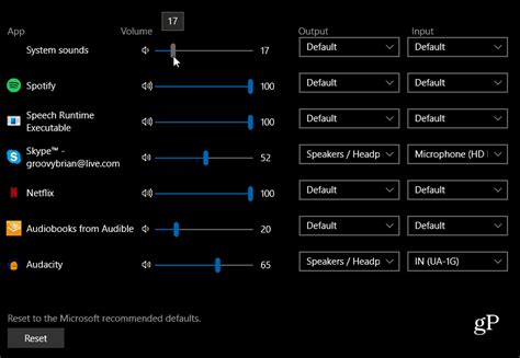 how to use the new sound settings in windows 10 1803 april update