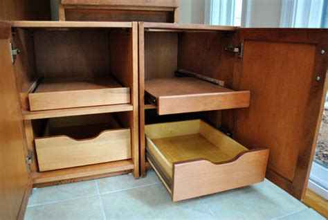 Temporary Drawers by Easy Accessibility Cabinets Atlanta Cbell Cabinetry