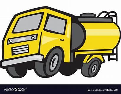 Cartoon Fuel Tanker Vector Royalty