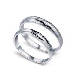 his and hers matching wedding ring sets fingerprint of his and matching wedding ring set for jeenjewels